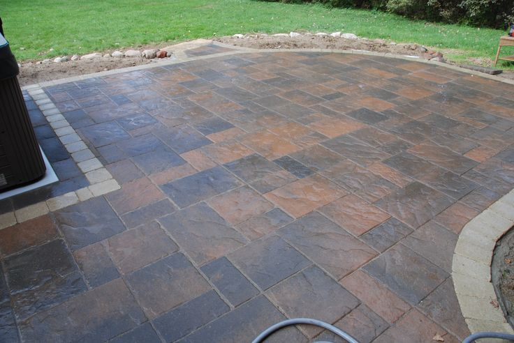 Beacon Hill Unilock brick paver patio. All Natural