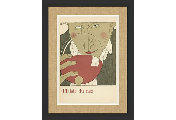 Black Framed Wine Guy Print : Pleasure of the nose