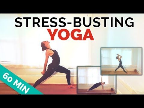 ▶ Yoga for Stress Workout: 60-Min Intermediate Yoga Sequence - YouTube