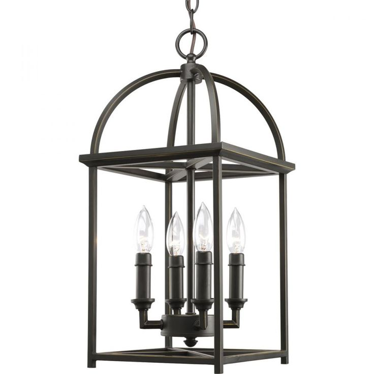 Progress bronze foyer cage light