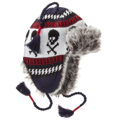 Mossimo Supply Co. Men's Trapper Hat - Skulls