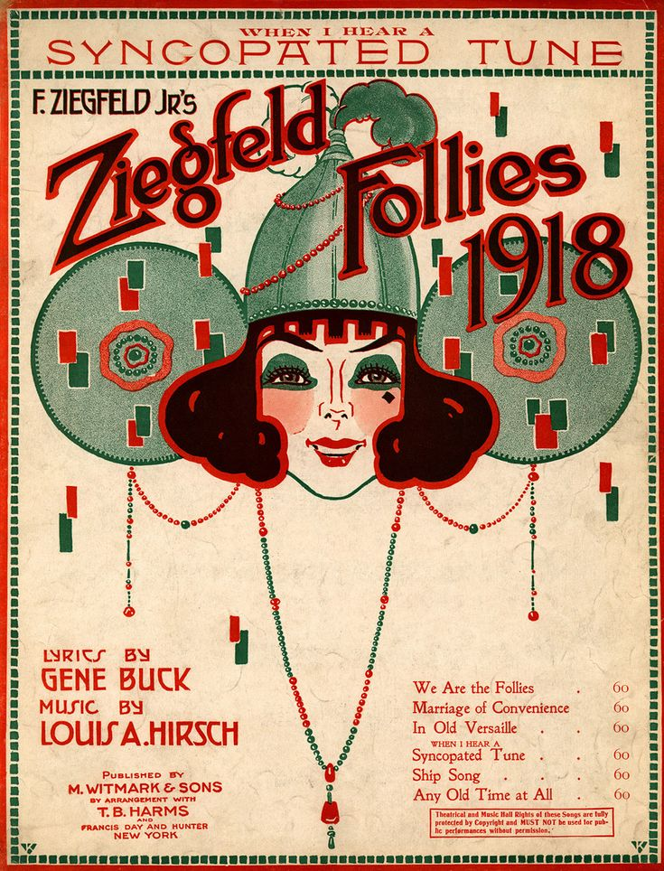 Ziegfeld Sheet Music - Ziegfeld Follies of 1918