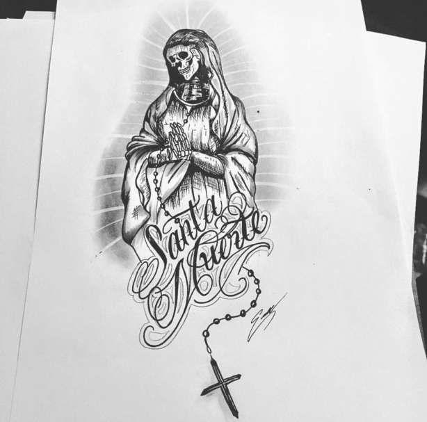 15 La Santa Muerte Drawings Body Art Tattoos Tattoo Font Styles Tattoo Flash Art