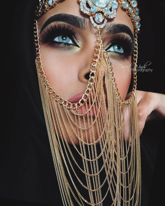 Diamond Face Veil Chain In Gold By RegentCouture On Etsy