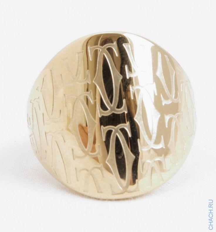 Кольцо Cartier широкое цвета желтого золота