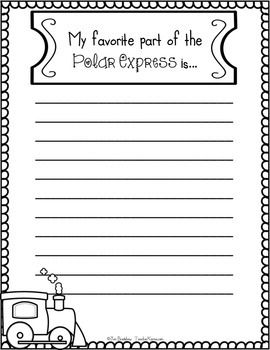 FREE Polar Express ~ My Favorite Part Writing! Christmas F