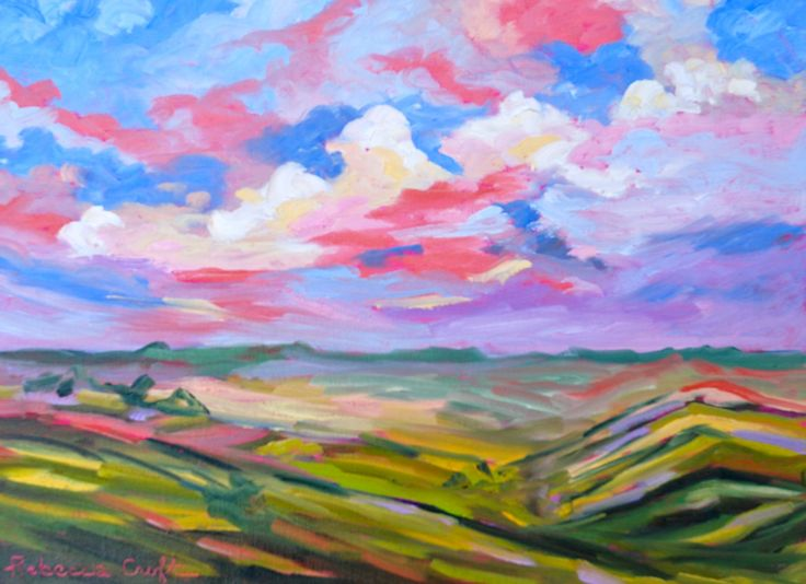 Original Oil Painting Fine Art Impressionist Landscape Tuscany Italy by Rebecca Croft. $148.00, via Etsy.