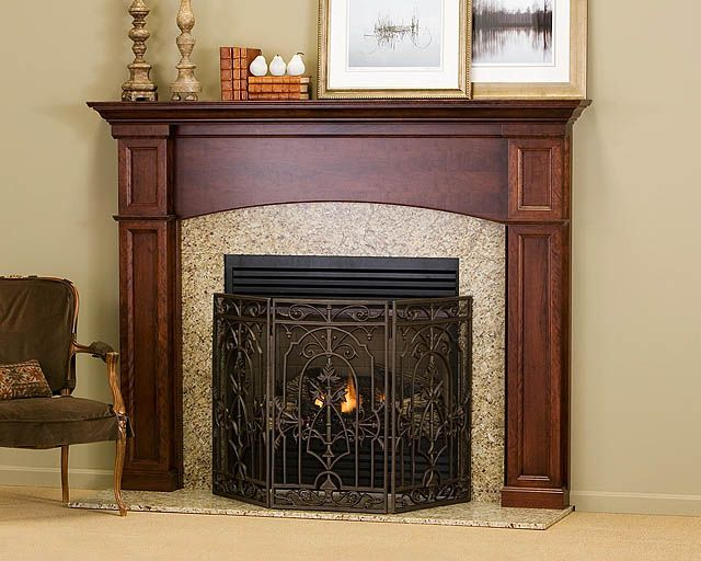56 best images about traditional wood mantels on pinterest traditional the cambridge and mantels - Mantel kits for fireplace ...