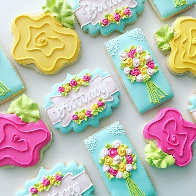 I love it when customers order cookies for themselves! || plaque cutter (and design inspiration) from @lc_sweets , flower design inspiration from @sweetsugarbelle flowers letters summer