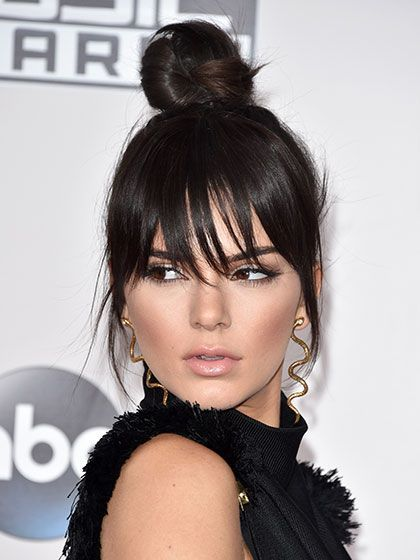 51 New Hair Ideas: Kendall Jenner's bun and bangs | allure.com