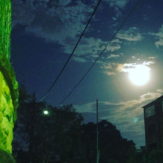 After a #fabulous #NightOut at #dinner, we came #home to a #gorgeous #FullMoon ... #moon 🌕
