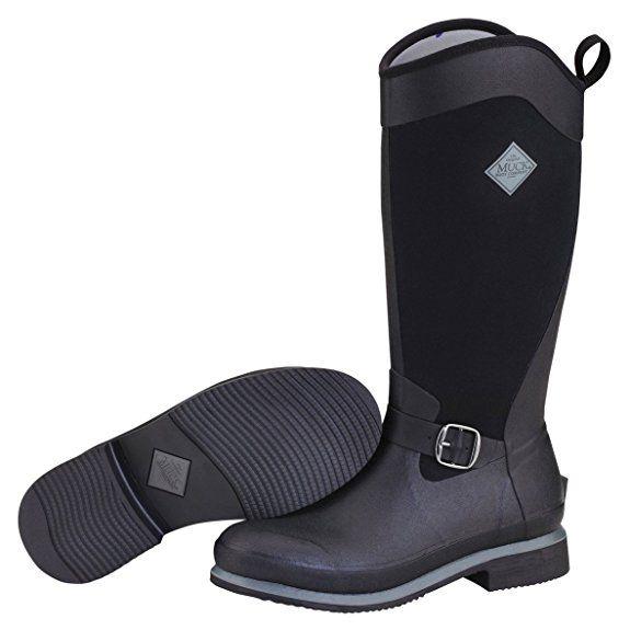 Muck Boot Women's Reign Tall Snow Boot, Black, 5 M US