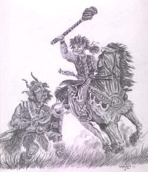 Bullroarer in 'The Battle of the Greenfields' by Paula Berry