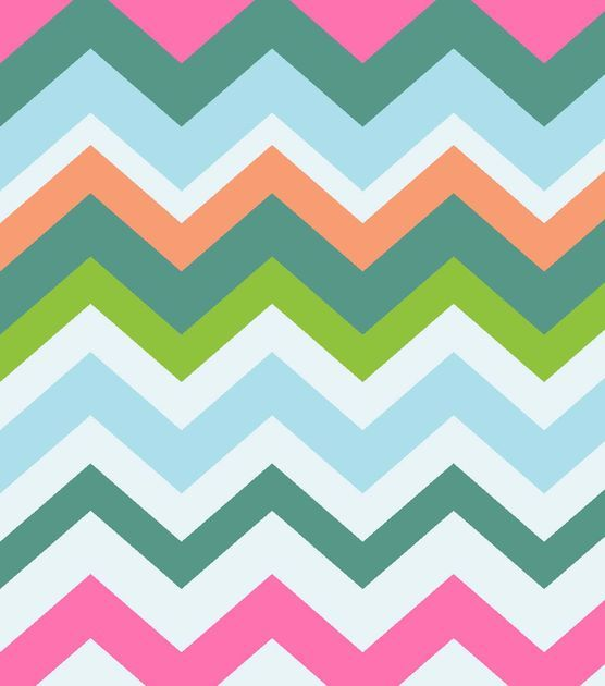 Fabric Central By the Yard Fabric- Bird Paradise Multi Chevron