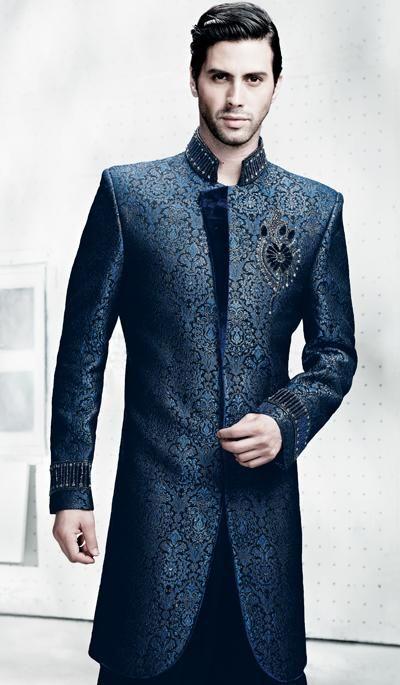 Rich Navy Blue Fancy Indo Western Suit