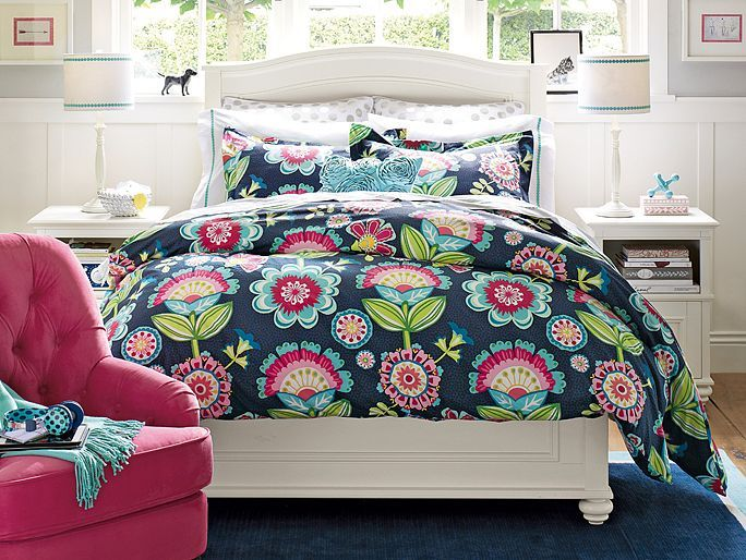 chelsea papercut floral bedroom pb teen