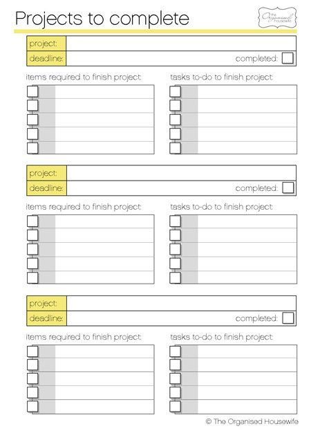 Do you have a few craft projects on the go? Or have the supplies for projects but don't get around to starting them. Here's a printable for you - Craft Project to complete planner. Go through you...