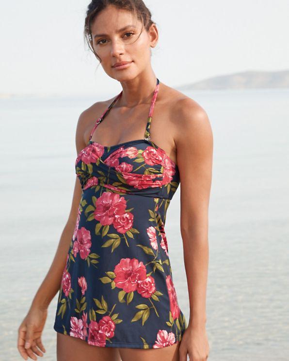 bce0f9e7689d5 Garnet Hill Retro Ruched Swim Dress | Garnet Hill | My Style | Swim ...