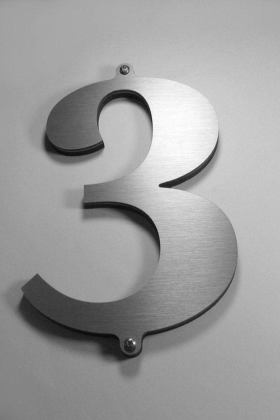Modern house numbers aluminium