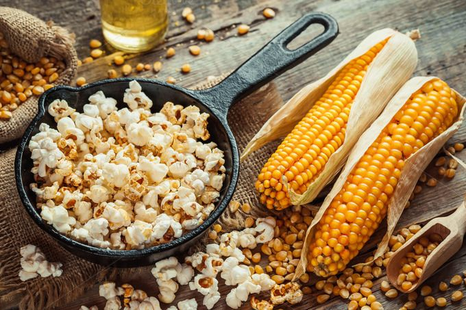 #Popcorn in frying pan and #corncobs by chamillewhite on @creativemarket