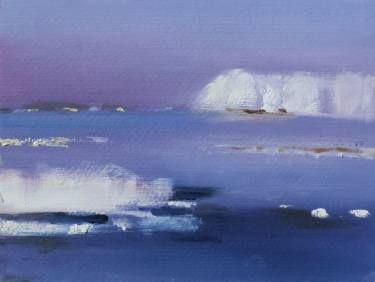 "Saatchi Art Artist Marta Zamarska; Painting, ""Winter Postcard 9"" #art"