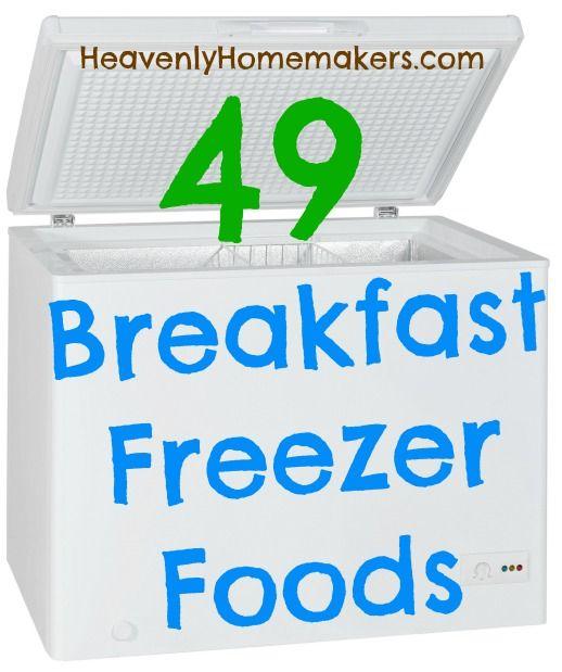 49 Frühstück Gefrierschrank Foods