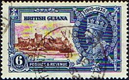 British Guiana 1935 King George V Silver Jubilee SG 302 Fine Used Scott 224 Other British Guiana Stamps HERE