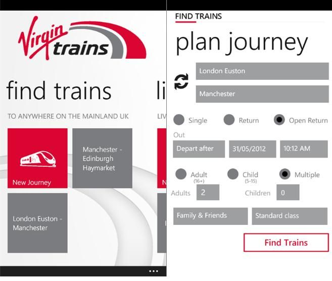 train app - Google keresés