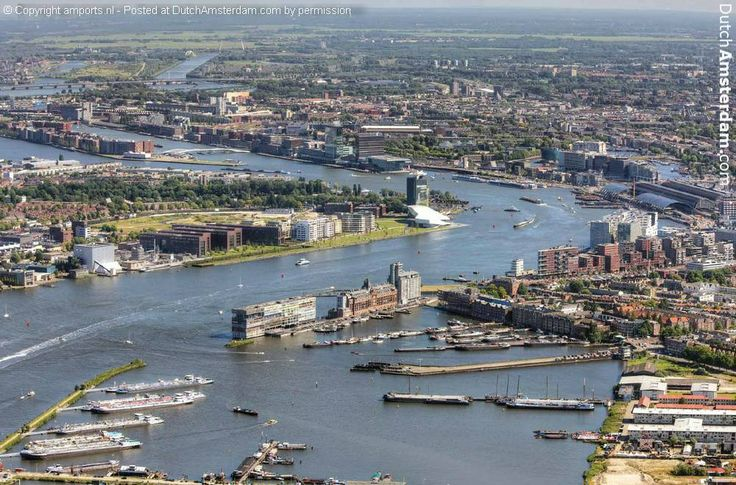 Amsterdam: the river IJ (pronounce like 'eye')