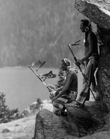 "Native American Indians in Montana - ""The Eagle."" Blackfoot Glacier National Park Photo: photo by Roland Reed,1913."