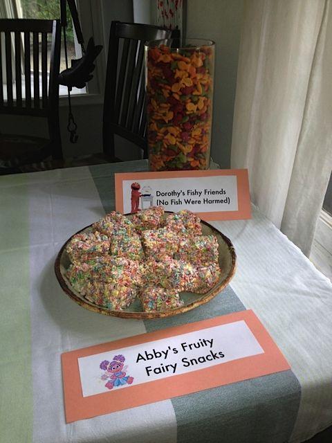 Sesame Street Party   Abby's Fruity Fairy Snacks