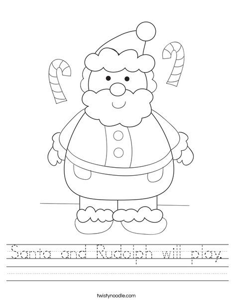 blackline coloring pages for coloring by sight word can add words to write santa - Coloring Pages Santa Claus 2
