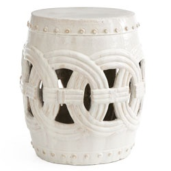 Interlocking Rings Stool - White