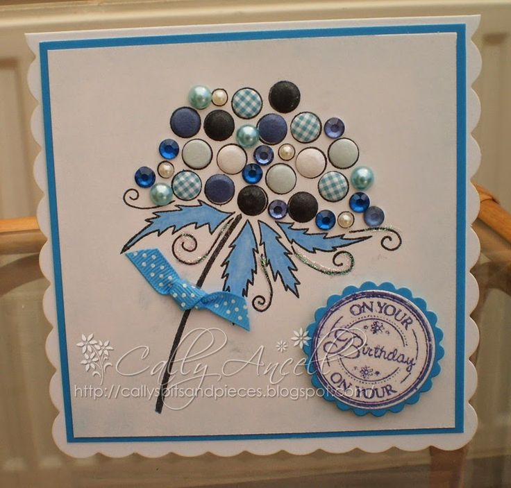 Card made with Woodware bubble stamp.