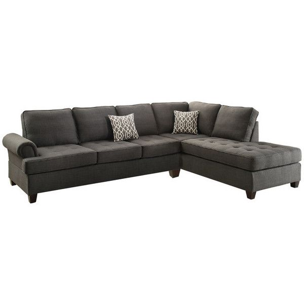 Sectional Sofa with Reversible Chaise - Transitional - Sectional Sofas... ❤ liked on Polyvore featuring home, furniture, sofas, transitional furniture, infini and transitional sofa