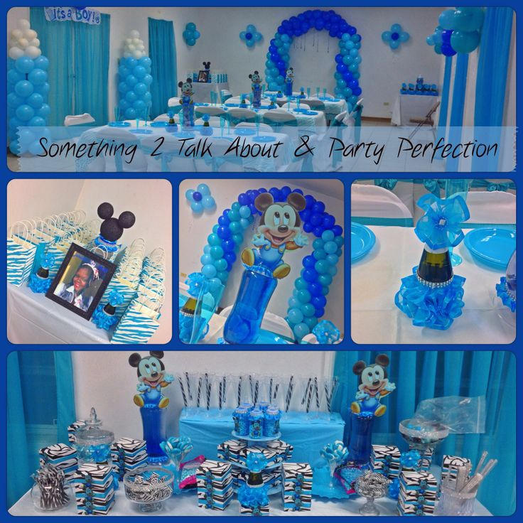 Its a boy baby mickey baby shower decor 39 party decor by for Baby mickey decoration ideas