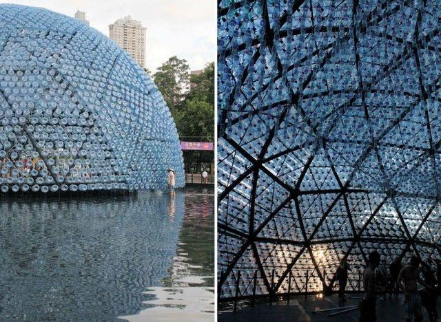 Galeria - Um pavilhão de luz feito com garrafas plásticas recicladas - 10