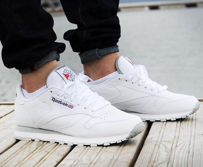 reebok baskets classic leather homme