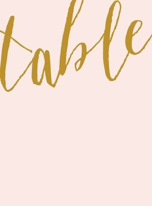 Penned Promises - Printable Table Numbers - Elm and Gray - Pearl - White : Front