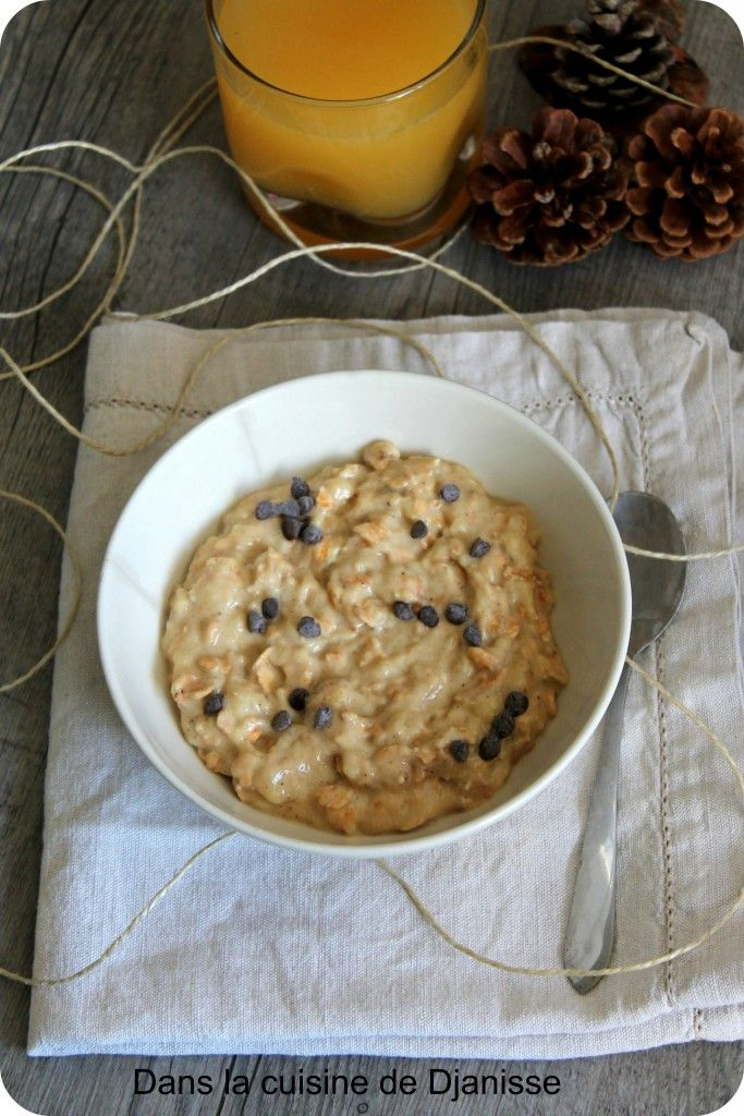 Porridge banane sans gluten et sans cuisson (vegan)