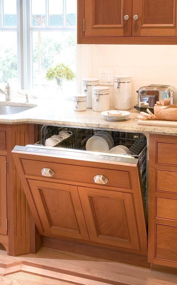 idea of the day neutral u0026 bright light wood kitchens gallery by crown point cabinetry lovely light wood beaded inset panelized dishwasher