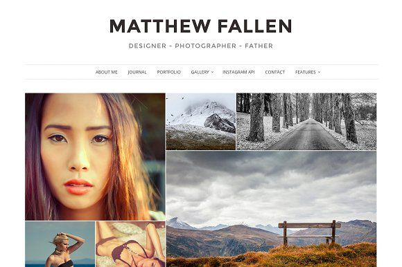 Ella - Photography Wordpress Theme by VSThemes on @creativemarket