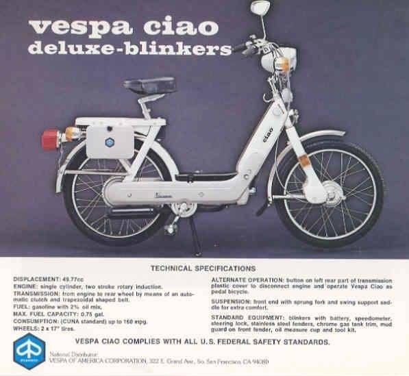 Trend Vespa Ciao USA Mehr Infos zu den dortigen Modellen zippymopedparts dann
