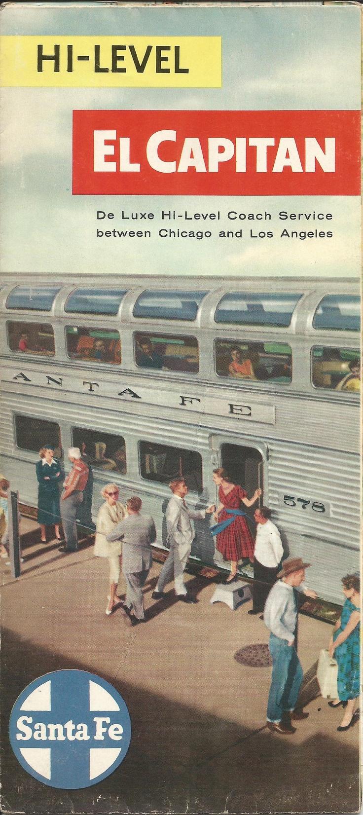 Brochure for Santa Fe's El Capitan.