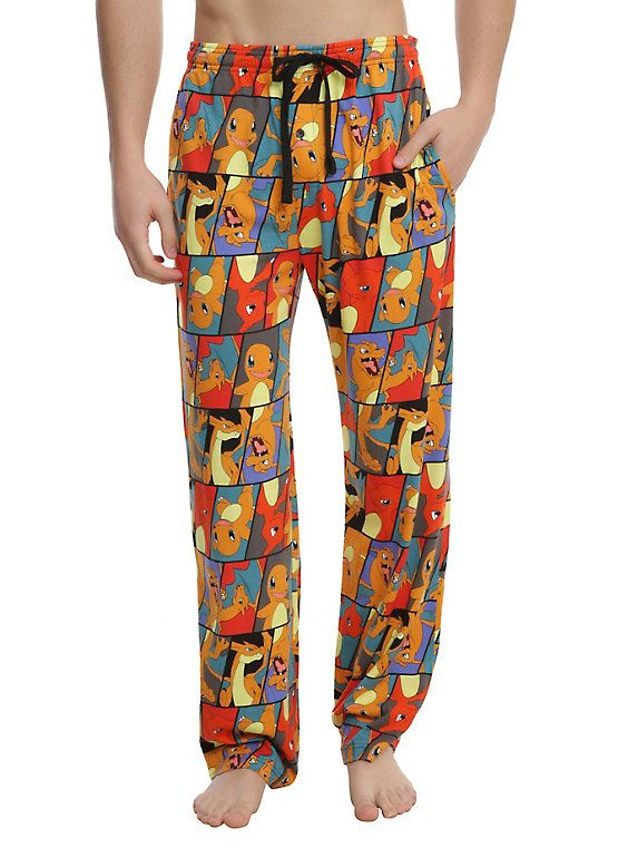 Pokemon Charmander Evolution Print Guys Pajama Pants, MULTI