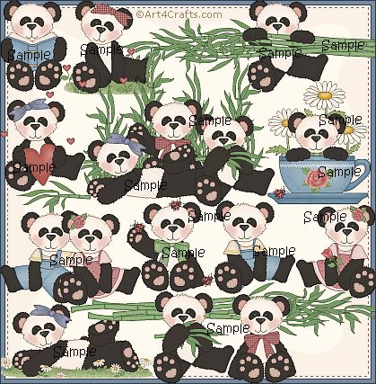 Craft Clipart 14: Pandas