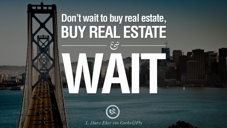 Don't wait to buy #realestate, buy real estate and wait. www.maverickinvestorgroup.com #TipoftheDay #RealEstateInvesting #Investing