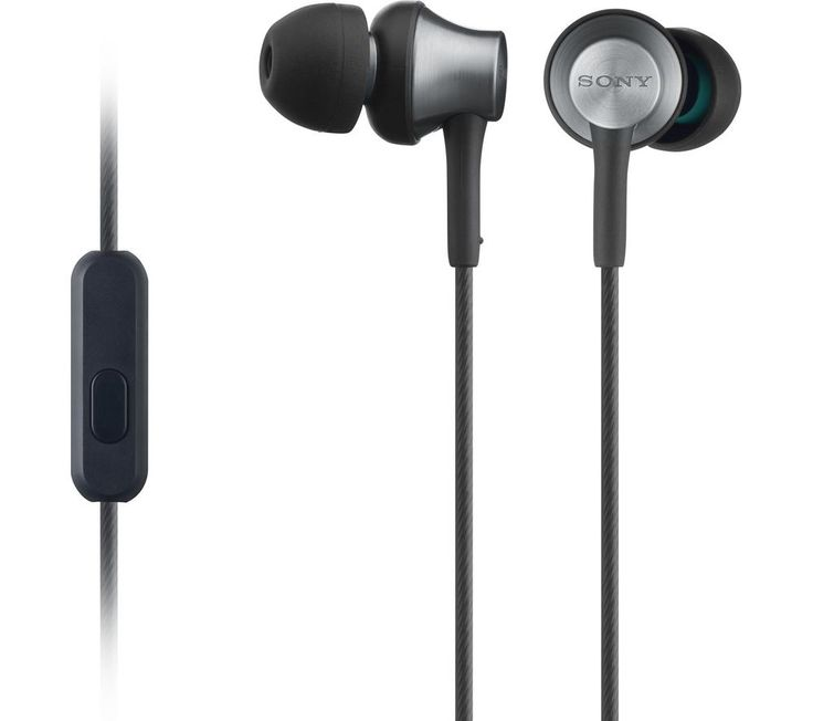 SONY  MDR-EX650AP Headphones - Black, Black Price: £ 24.99 Top features: - Secure and comfortable angled earbuds help you to listen for longer - Increased sound stability with brass housings - Control calls and audio via Sony SmartKey app Secure and comfortable The Sony MDR-EX650AP Headphones come equipped with soft angled earbuds which sit comfortably in your ear, allowing you to listen for...
