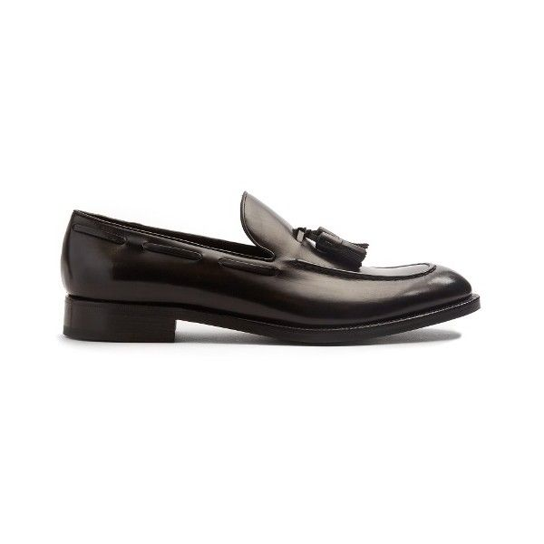 Fratelli Rossetti Splendor Antique leather loafers found on Polyvore featuring polyvore, men's fashion, men's shoes, men's loafers, black, shoes, mens black loafers shoes, fratelli rossetti mens shoes, mens tassel loafer shoes and mens loafer shoes
