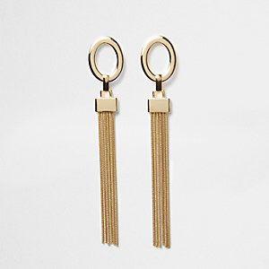 Metal Tasseled Drop Earrings from River Island R240,00